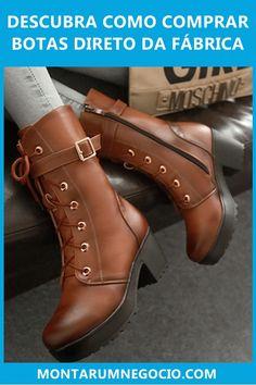 Descubra onde comprar botas direto da fábrica para revender. São botas de qualidade, com preço de atacado para quem deseja ganhar dinheiro.