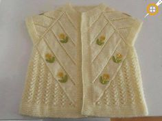 Luke-warm, confident, useful baby vests. Arm Knitting, Knitting For Kids, Easy Crochet Patterns, Baby Knitting Patterns, Knitting Designs, Baby Cardigan, Baby Pullover, Baby Sweaters, Girls Sweaters