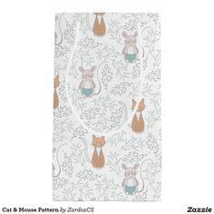Cat & Mouse Pattern Small Gift Bag