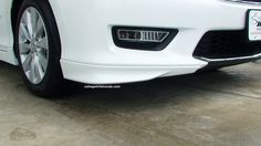 Adds an aggressive appearance to the front bumper. Factory painted and designed for a custom fit. Honda Accord Accessories, 2013 Honda Accord, Braids, College, Car, Design, Bang Braids, Cornrows, University