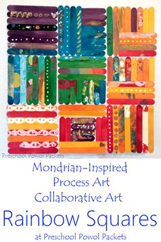 A brilliant way to learn about a famous artist Piet Mondrian and use process art to create a stunning collaborative art project Perfect for all ages preschoolers kindergarteners elementary students and even older kids Also great for teambuilding Collaborative Art Projects For Kids, Class Art Projects, Preschool Art Projects, Auction Projects, Art Activities, Group Projects, Preschool Art Lessons, Process Art Preschool, Auction Ideas