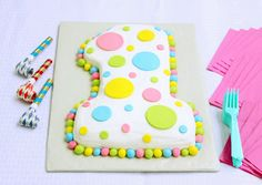 First Birthday Polka Dot Cake (it's easy!)