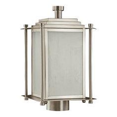 Best Bathroom Light Fixtures | Shoreham Outdoor Post Lantern in Satin Nickel ** See this great product. Note:It is Affiliate Link to Amazon. #PracticalandInnovativeBathroomLightFixtures