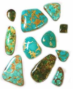 Turquoise | Royston Turquoise Cabochons - Royston Turquoise cabs - from the ...