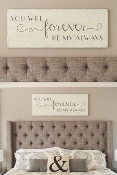 """Hand painted wood sign, """"You will forever be my always"""""""