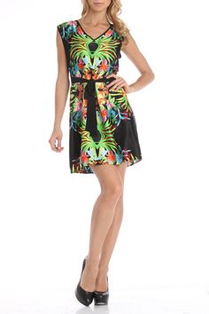 Andree Hannah Dress in Black And Floral - Beyond the Rack