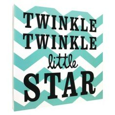 Twinkle Twinkle Chevron Wall Art - Blue