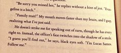 Red Queen by Victoria Aveyard (sorry for the cursing but this scene is gold)