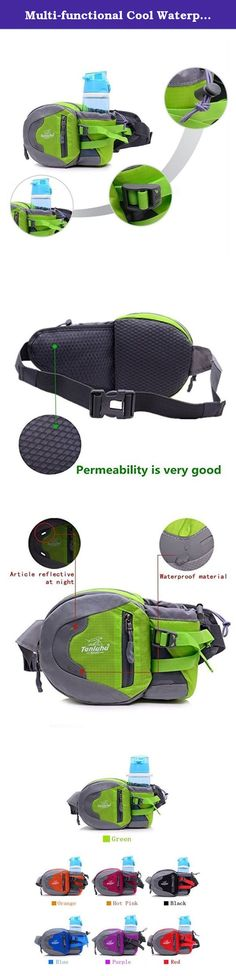 Multi-functional Cool Waterproof Running Hiking Camping Cycling Travling Waist Fanny Pack Water Bottle Pouch Bag Holder with Adjustable Belt (Rose Red). Features: Fashion, multi-function and practical design, and comfortable to wear Ideal for outdoor sports (hiking, camping, climbing, cycling, etc) and travel use Suitable for both men and women Very portable and convenient for assorting things Package 1*waist pacK.