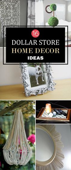 16 DIY Dollar Store Home Decor Ideas