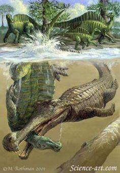 Sarcosuchus - aquatische Reptilien und Reptilien-Bilder!