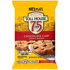 NESTLE TOLL HOUSE Chocolate Chip Cookie Dough is an easy way to bake up your favorite classic taste. Full of our famous morsels, these cookies deliver the semi-sweet chocolate flavor you've come to expect. Nestle Chocolate Chip Cookies, Chocolate Chip Cookie Dough, Dark Chocolate Chips, Refrigerated Cookie Dough, Delicious Chocolate, Toll House, Trans Fat, Drink, Amazing
