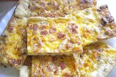 Lotrinský slaný koláč Czech Recipes, Ethnic Recipes, Quiche Lorraine, Hawaiian Pizza, Lasagna, Ham, Macaroni And Cheese, Toast, Food And Drink