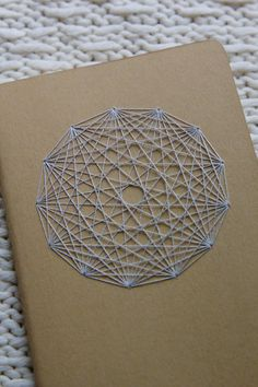Traverse Notebook - Sacred Geometry : Beige with Gray by TheInfiniteThread on Etsy