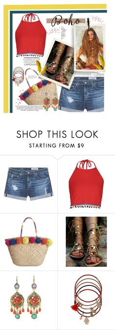 """""""Untitled #389"""" by riuk ❤ liked on Polyvore featuring AG Adriano Goldschmied, Boohoo, INC International Concepts, WithChic and Accessorize"""