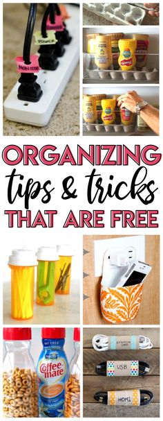 These ideas are so clever and the best part is they cost nothing! Genius organizing hacks using items you already have around the house and would probably throw out! #organization #upcycled #repurposed