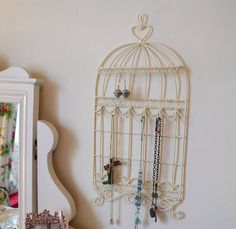bird cage jewelry holder wall | Bird Cage Jewellery