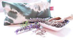 Augenkissen, Entspannung, Meditation, Wellness, Lavendel, Leinsamen, Wellbeing, Shibori, Grün