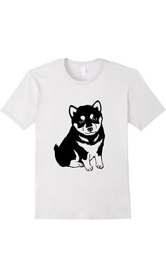 Men's Shiba Inu Puppy T Shirt Large White Best Price