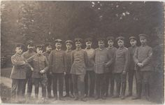 WWI GERMAN SOLDIERS Group Iron Cross Real Photo PC c1915.