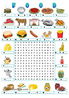FOOD - WORDSEARCH