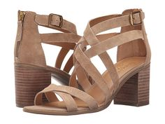 I love a stacked heel with jeans. I also really like the interlocking straps. Great fall shoe! Franco Sarto Hachi