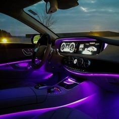 A network of hundreds of LEDs and fiber-optics can create not just a soothing ambience in the cabin, but one you can alter to suit your mood—or even create one. Seven selectable colors, adjustable brightness, and three lighting zones let the driver control the atmosphere like never before