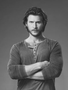 Greyston Holt talks the twisty Bitten finale, playing a werewolf, and getting naked — Fandom 101 Wolf Movie, Space Tv Series, Laura Vandervoort, Sci Fi Series, Handsome Actors, Black And White Pictures, Man Crush, Werewolf, Favorite Tv Shows