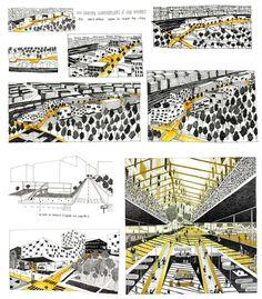 Création d'illustrations pour le projet du futur quartier des Batignolles avec les éditeurs Double Elephant/