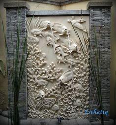 Limestone feature wall