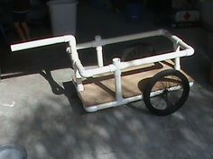 PVC beach cart .....for cooler, chairs towels...