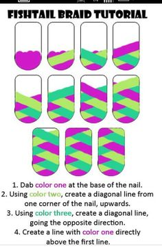 How to do a braided nail! Step by step :)