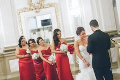 Wedding ceremony at the Belvedere Hotel in Baltimore, MD. Captured by NYC wedding photographer Ben Lau.