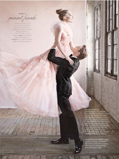 Romantic, whimsical, ballet inspired wedding dress! So pretty and slightly pink:)