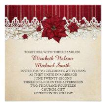 Christmas Winter Holiday Wedding Invite