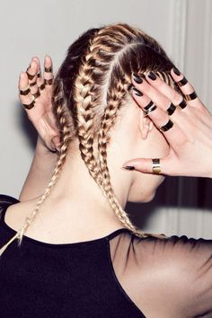 If you do the plaits tight enough the hair will stay in place for ages, also just with abit of product it can last for more than a day! Tight Braids, Cool Braids, Crazy Braids, Braids Easy, Braids Cornrows, Side Braids, Braid Styles, Short Hair Styles, Looks Hip Hop