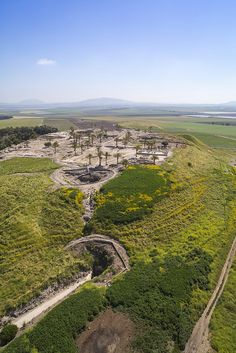 TEL MEGIDDO - VERTICAL AERIAL VIEW | Flickr - Photo Sharing!