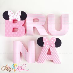 Letra 3D Minnie