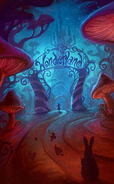 Alice in Wonderland, Lewis Carroll, Lewis Carroll, Digital Art Illustration, Art Illustrations, Art Disney, Disney Ideas, Alice Disney, Alice Madness Returns, Adventures In Wonderland, Wonderland Party