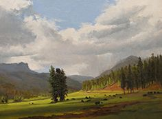 The light is captured so beautifully in this painting, and I really love the sky! Great American landscape painter.