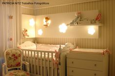 classic girl nursery in stripes. LOVE the light box Beth- would bring much needed light to that room and we could make it ourselves