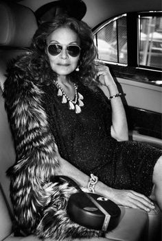 """Accept the passage of time.  The older you get the more you should learn to love life & appreciate the beauty that comes with age""- DVF"