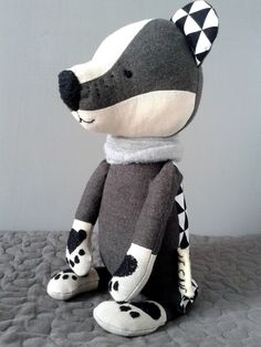 TOIVO the badger. made-to-order. stuffed toy. gift for by LESNE