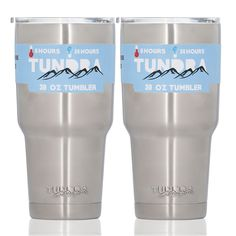 Tundra by Heim Concept 2PC Set Vacuum Insulated Stainless Steel Travel Tumbler Cup w/ Sippy Cap Lid, 30oz