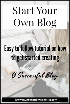 Want to Start Your Own Blog? – Find out how to start your own blog with this step-by-step tutorial. #startablog #startingablog #blogging #blog #startingablogtomakemoney #workathome #wordpress #bluehost #howtostartablog #bloggers #sahm