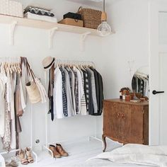 Don't have a closet? Use a wall! : @lucywilliams02 Reposted Via @doneanddonehome