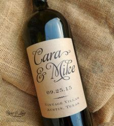 Personalized Couples Wine and wine label