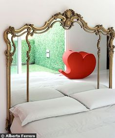 looks like it could be a vintage dresser mirror = Headboards