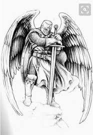 Jesse Santos - Book of angels – 43 photos Warrior Tattoo, Knight, Archangels, Body Art Tattoos, Warrior Tattoos, Art Tattoo, Knight Tattoo, Angel Tattoo Designs, Archangel Tattoo