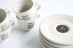 ZEICHEN & WUNDER / Caffè-Tassen Kollektion / #Traue #deinen #Sinnen #Packaging #Design #Gestaltung / by Zeichen & Wunder, München Tableware, Design, Dinnerware, Dishes, Design Comics